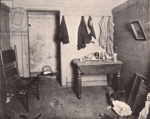 New York Tenement housing, 1890s (b/w photo)