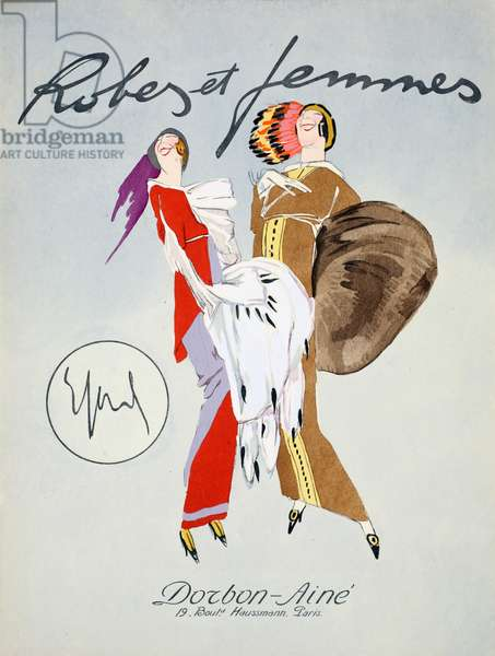Front Cover, from 'Robes et Femmes', pub. Dorbon-Ainé, Paris, 1913 (pochoir print)