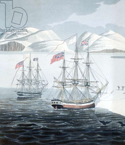 First Communication with the Natives of Prince Rupert Island, illustration from 'A Voyage of discovery...', 1819 (litho)