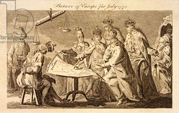 Picture of Europe for July 1772, c.1772 (engraving)