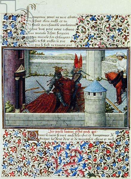 Ms. 2597 The Duel between Heart and Wrath, facsimile edition of 'Livre du Coeur d'Amours Espris' by Rene d'Anjou (colour litho)