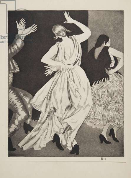 Spanish Dancer No. 1, published 1923 (aquatint)