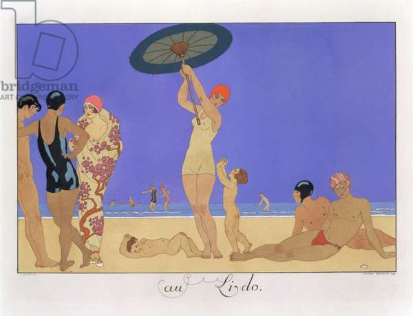 At the Lido, engraved by Henri Reidel, 1920 (litho)