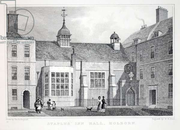 Staples' Inn, Holborn, from 'London and it's Environs in the Nineteenth Century' pub. Jones & Co., 1827-1829 (engraving)