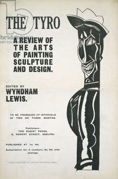Front cover of 'The Tyro', no.1, 1921 (litho)
