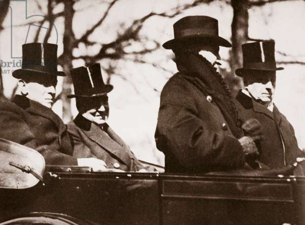 Wilson and Harding Return to the Capitol, 1921 (sepia photo)