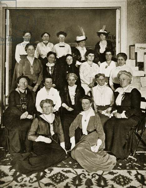 The International Gathering of Woman Suffrage Workers (sepia photo)