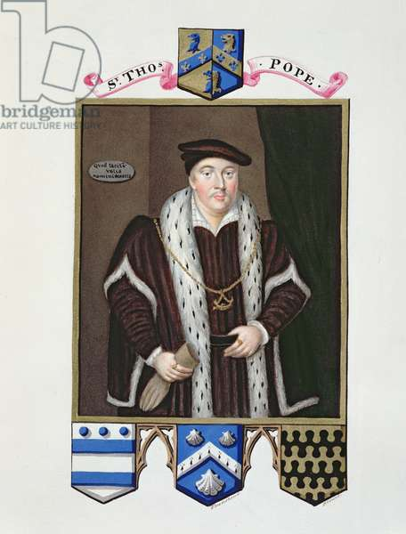 Portrait of Sir Thomas Pope (c.1507-99) from 'Memoirs of the Court of Queen Elizabeth', published in 1825 (w/c and gouache on paper)