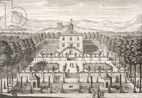 House and Garden, 1715 (engraving)