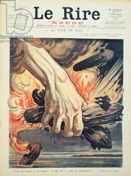 Kill the women and children!', front cover of 'Le Rire Rouge', 6 March 1915 (colour litho)