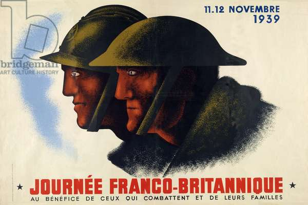 "French WW2 Poster ""Journee Franco-Britannique"", pub.1939 (colour litho)"
