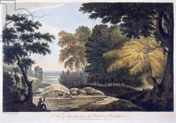 Hill Village in the District of Bauhelepoor, 1787 (aquatint)