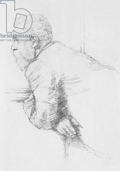 Portrait of William Ernest Henley (1849-1903), 1897 (litho)