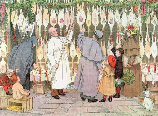 The Poulterer, from 'The Book of Shops', 1899 (colour litho)