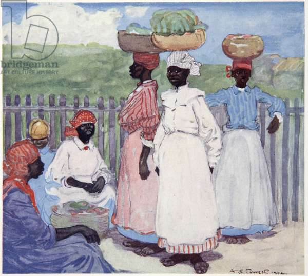 Resting by the Way, Jamaica, from a portfolio of privately printed watercolours of 'The West Indies' (colour litho)
