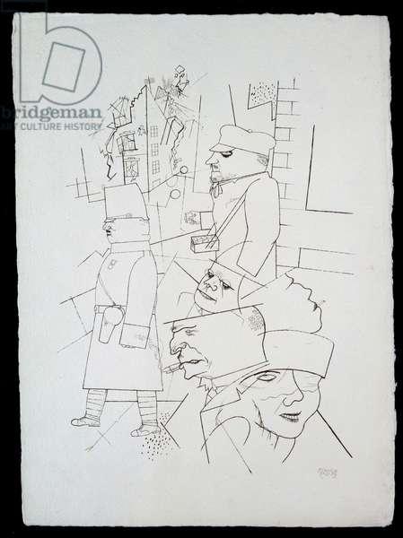 Dusk from 'In the Shadows' portfolio, published 1921 (photolitho)