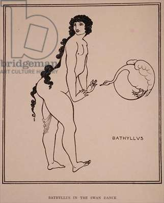 Bathyllus in the Swan Dance, illustration from 'The Sixth Satire of Juvenal', 1896 (engraving)