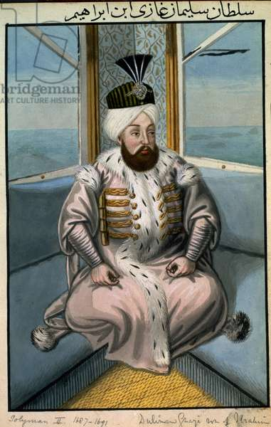 Solyman II (1642-91) Sultan 1687-91, from 'A Series of Portraits of the Emperors of Turkey', 1808 (w/c)