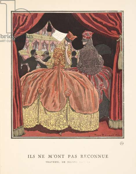 Ils ne M'Ont pas Reconnue from a Collection of Fashion Plates, 1921 (pochoir print)