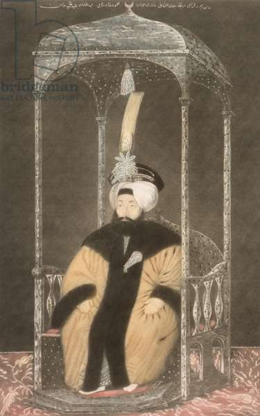 Mahmud II (1785-1839) Sultan 1808-39, from 'A Series of Portraits of the Emperors of Turkey', 1815 (mezzotint)