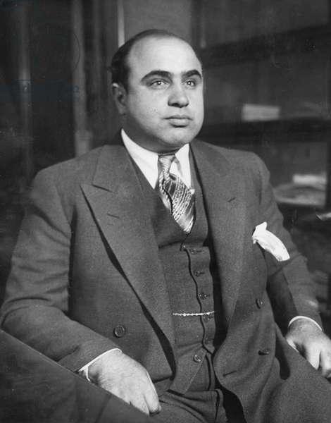 Al Capone, pub 1930 (b/w photo)