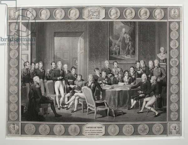 The Congress of Vienna, 1815 (engraving)