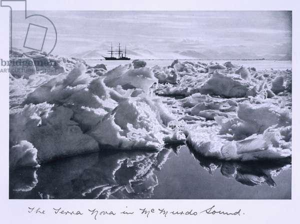 The 'Terra Nova' in the Mc Murdo Sound, from 'Scott's  Last Expedition' (b/w photo)