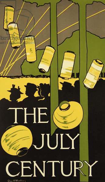 Reproduction of a poster advertising the July Edition of 'Century Magazine', published in New York (colour litho)