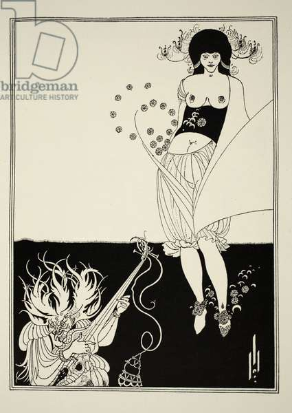The Stomach Dance, from 'Salome' by Oscar Wilde (1854-1900) 1893 (line block print)