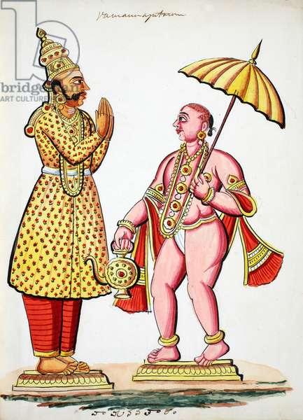 Vamana, 5th avatar of Vishnu (w/c on paper)