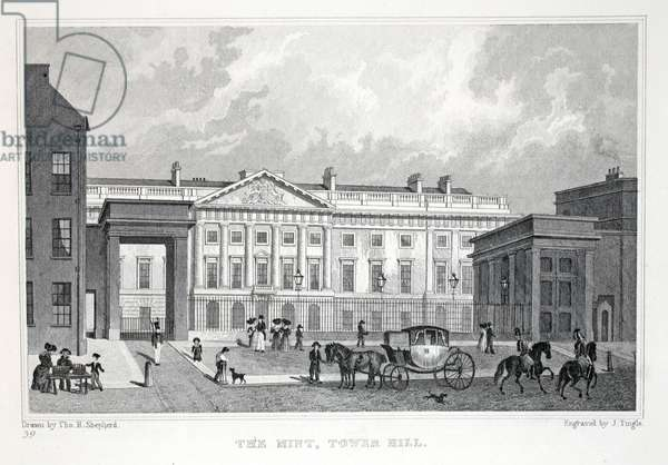 The Mont, Tower Hill, from 'London and it's Environs in the Nineteenth Century' pub. Jones & Co., 1827-1829 (engraving)