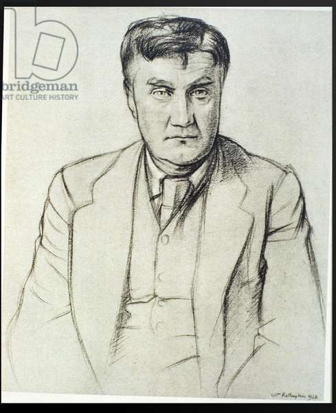 Portrait of Ralph Vaughan Williams (1872-1958), 1922 (litho)