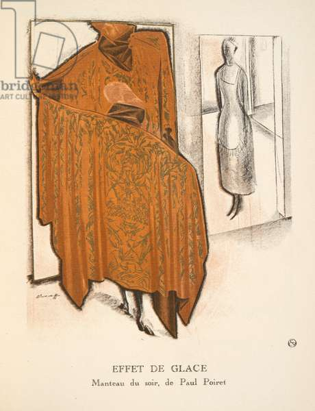 Effet de Glace, from a Collection of Fashion Plates, 1920 (pochoir print)