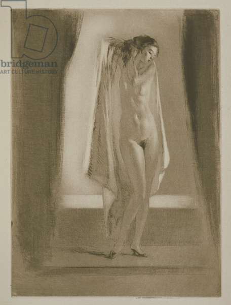 A woman getting out of a bath, illustration for 'Mitsou' by Sidonie-Gabrielle Colette (1873-1954) published 1930 (etching & drypoint)