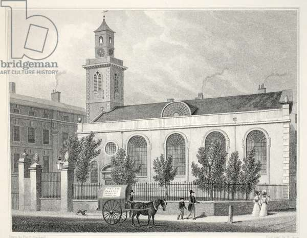 Church of St Mary, Aldermanbury, from 'London and it's Environs in the Nineteenth Century' pub. Jones & Co., 1827-1829 (engraving)