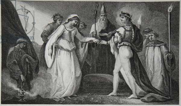 Marriage of Henry the First, engraved by Delatre, illustration from David Hume's 'The History of England', pub. by R. Bowyer, London, 1812 (engraving)