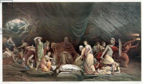 The Court of Death, pub. 1859 (colour litho)