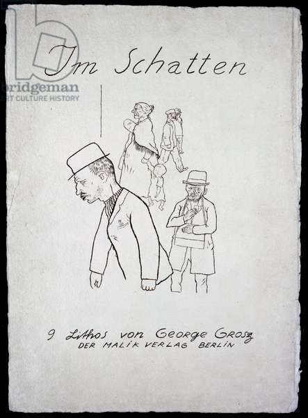 Title Page from 'In the Shadows' portfolio, published 1921 (photolitho)