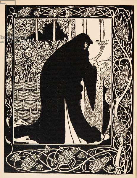 How Queen Guenever Made her a Nun, Illustration from 'Le Morte d'Arthur' by Thomas Malory, pub.1894 (engraving)