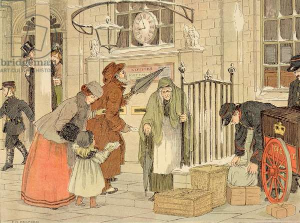 The Post Office, from 'The Book of Shops', 1899 (colour litho)