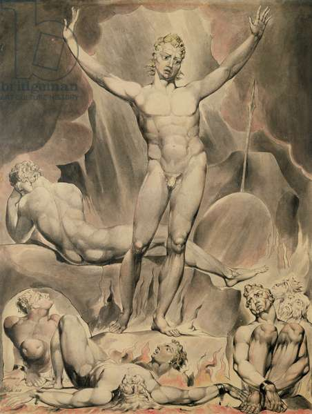 Satan Arousing the Rebel Angels, 1808 (pen and w/c)