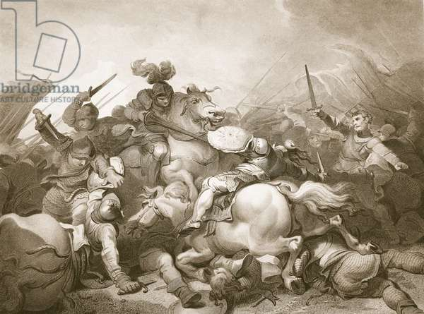 Battle of Bosworth Field, engraved by J. Thomson, illustration from David Hume's 'The History of England', pub. by R. Bowyer, London, 1812 (engraving)