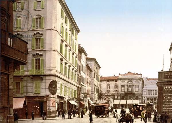 View of Rome (hand-coloured photo)
