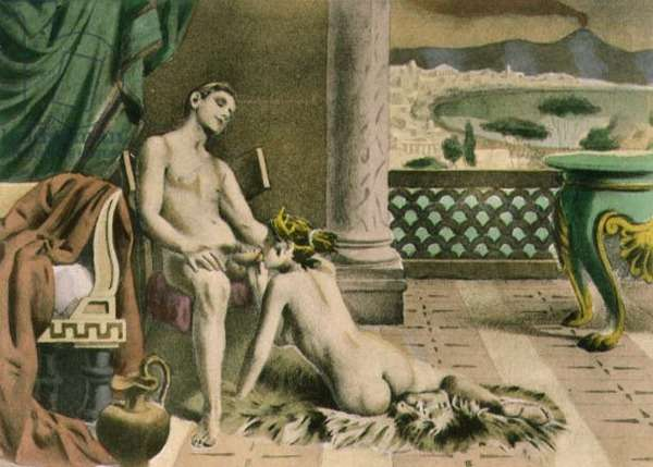 Ancient Times, plate IX from 'De Figuris Veneris' by F.K Forberg, engraved by the artist, 1900 (litho)
