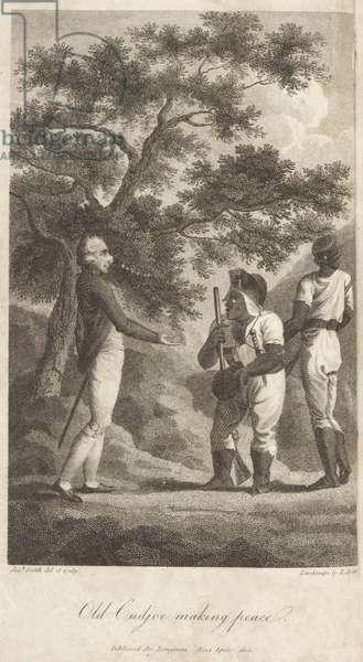 Old Cudjoe making Peace, pub. 1803 (engraving)