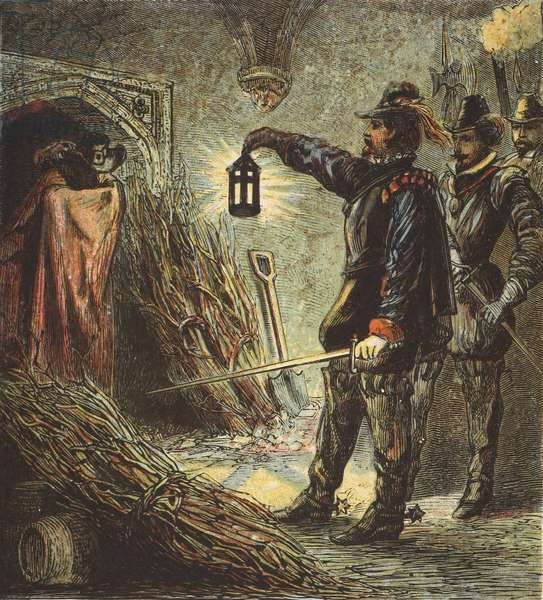 The Capture of Guy Fawkes, pub. 1890 (colour lithograph)
