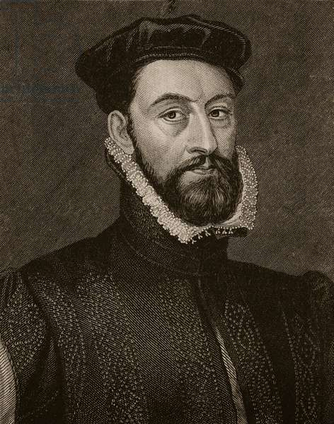 The Regent Murray, illustration from 'Cassell's Illustrated History of England' (engraving) (sepia photo)