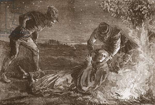 The Death of Zwingle, illustration from 'The History of Protestantism' by James Aitken Wylie (1808-1890), pub. 1878 (engraving)