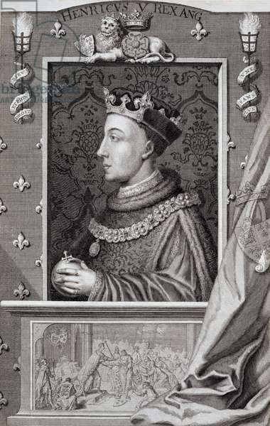 Henry V (1387-1422), after a painting in Kensington Palace (engraving)