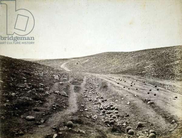 Valley of the Shadow of Death, Crimea, 1855 (salt print)